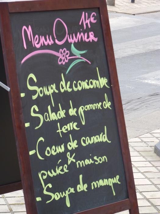 """Le menu """"ouvrier"""""""