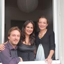 De gauche à droite : Fred, Mimi et Elo