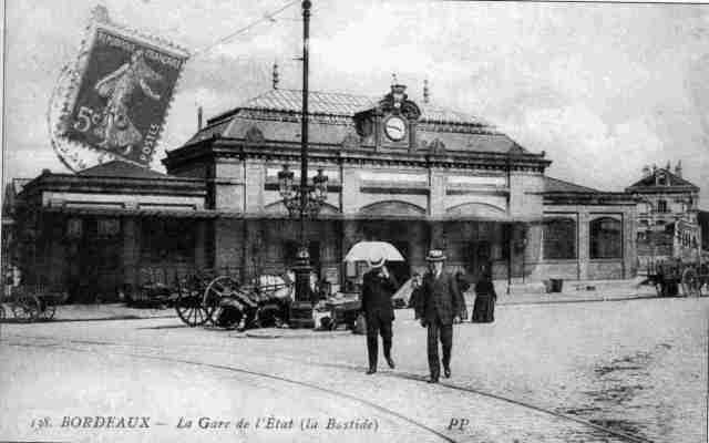 Gare disparue (source : http://www.histoires-de-bouliac.net/)