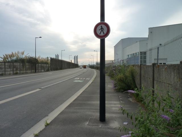 Une rue interdite aux piétons