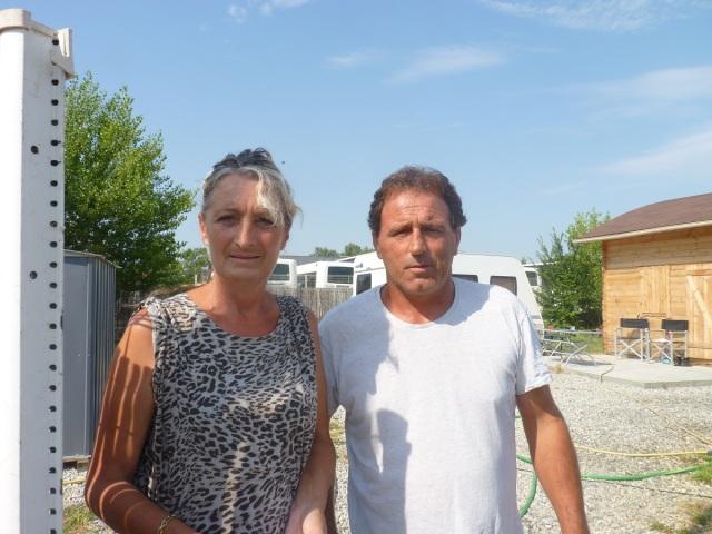 Chantal et Tony, deux des rares habitants de la rue D'Artagnan