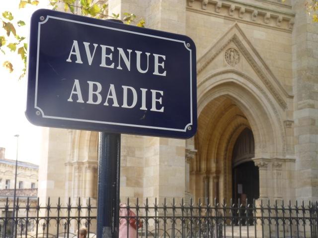 Abadie donc voilà notre rue
