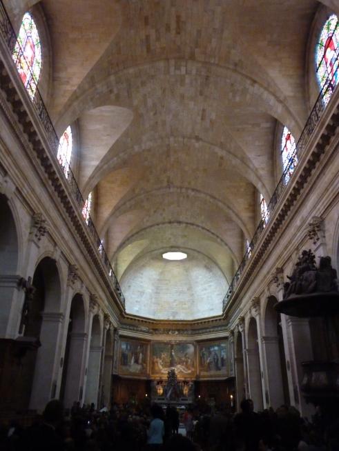 La voute restaurée de l'église Notre-Dame