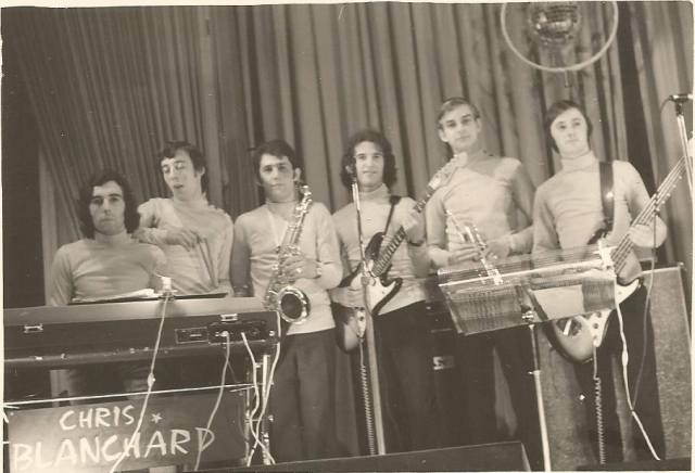 Orchestre Chris Blanchard, 1972. Merci à Bernard pour la photo.