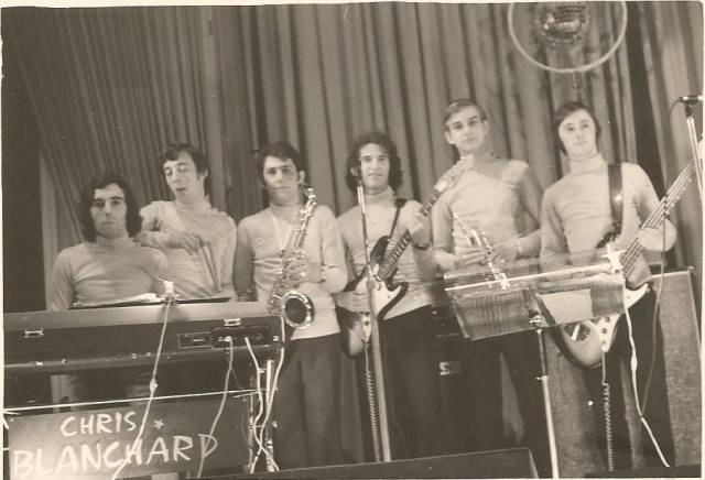Orchestre Chris Blanchard, 1972. Merci à Bernard pour la photo.